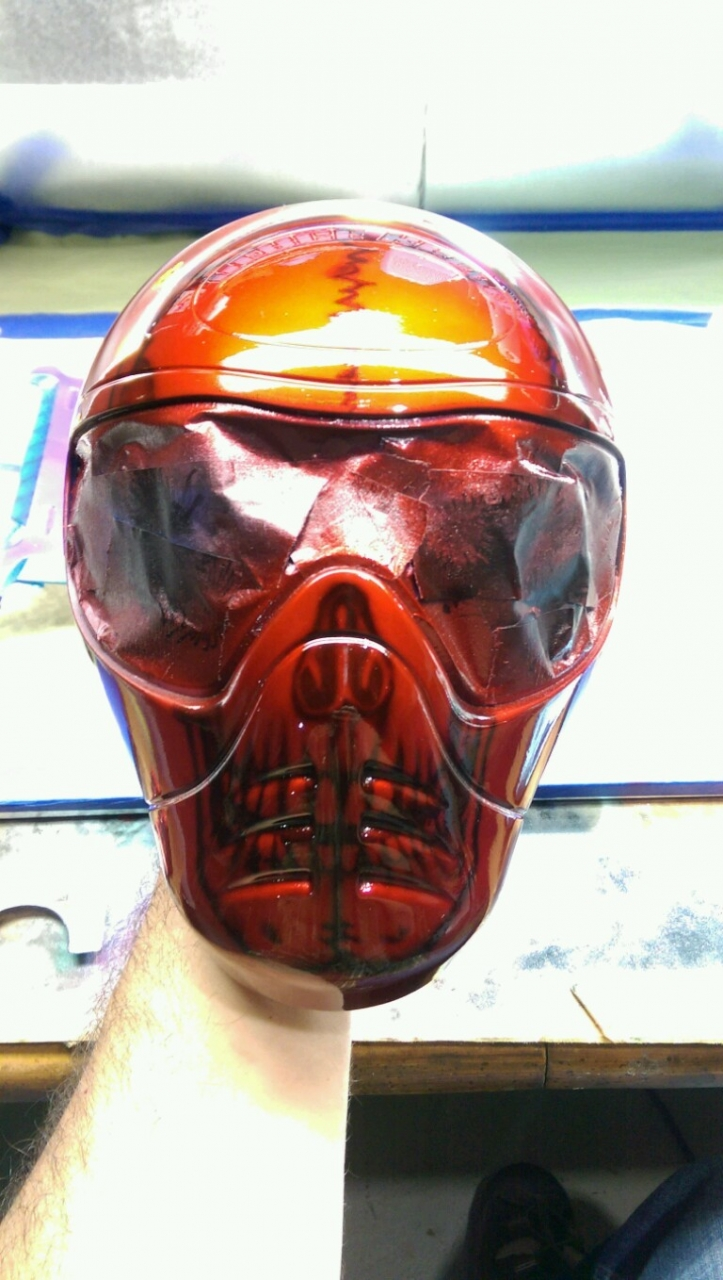 Red candy skull