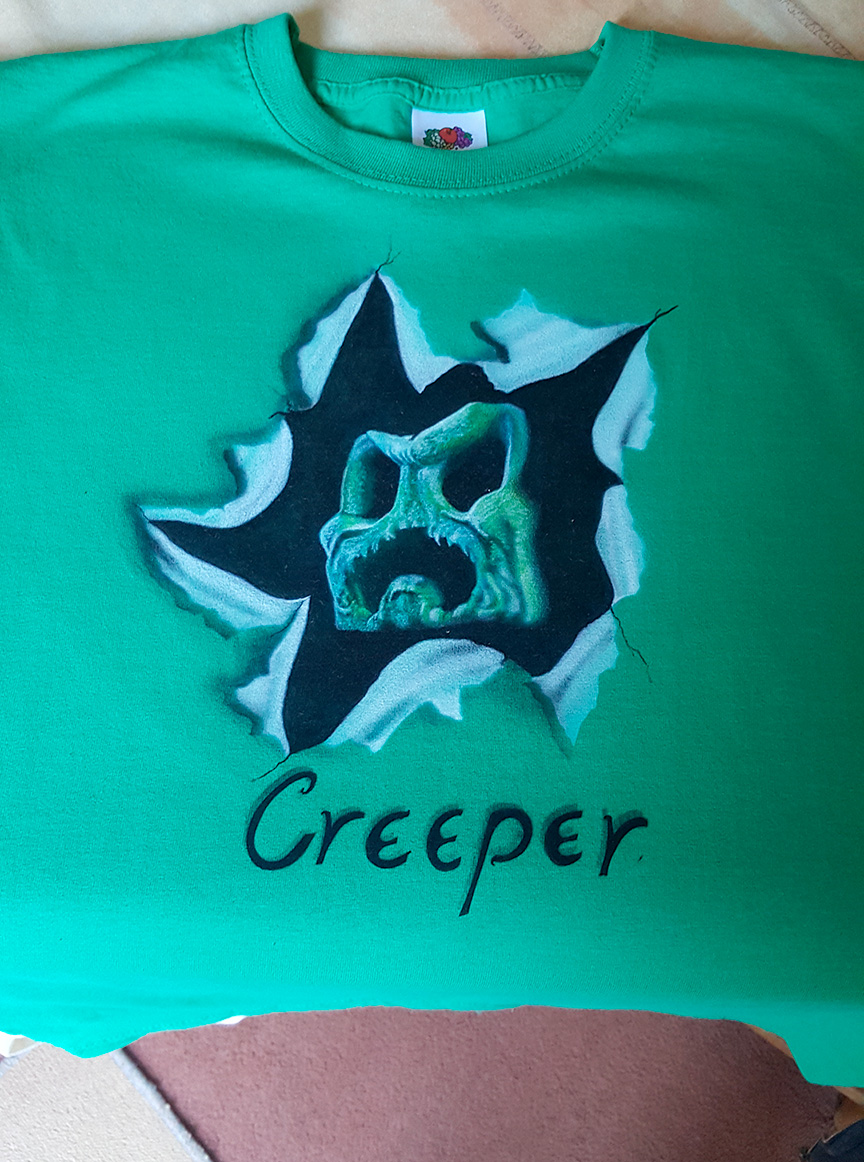 Creeper T shirt.