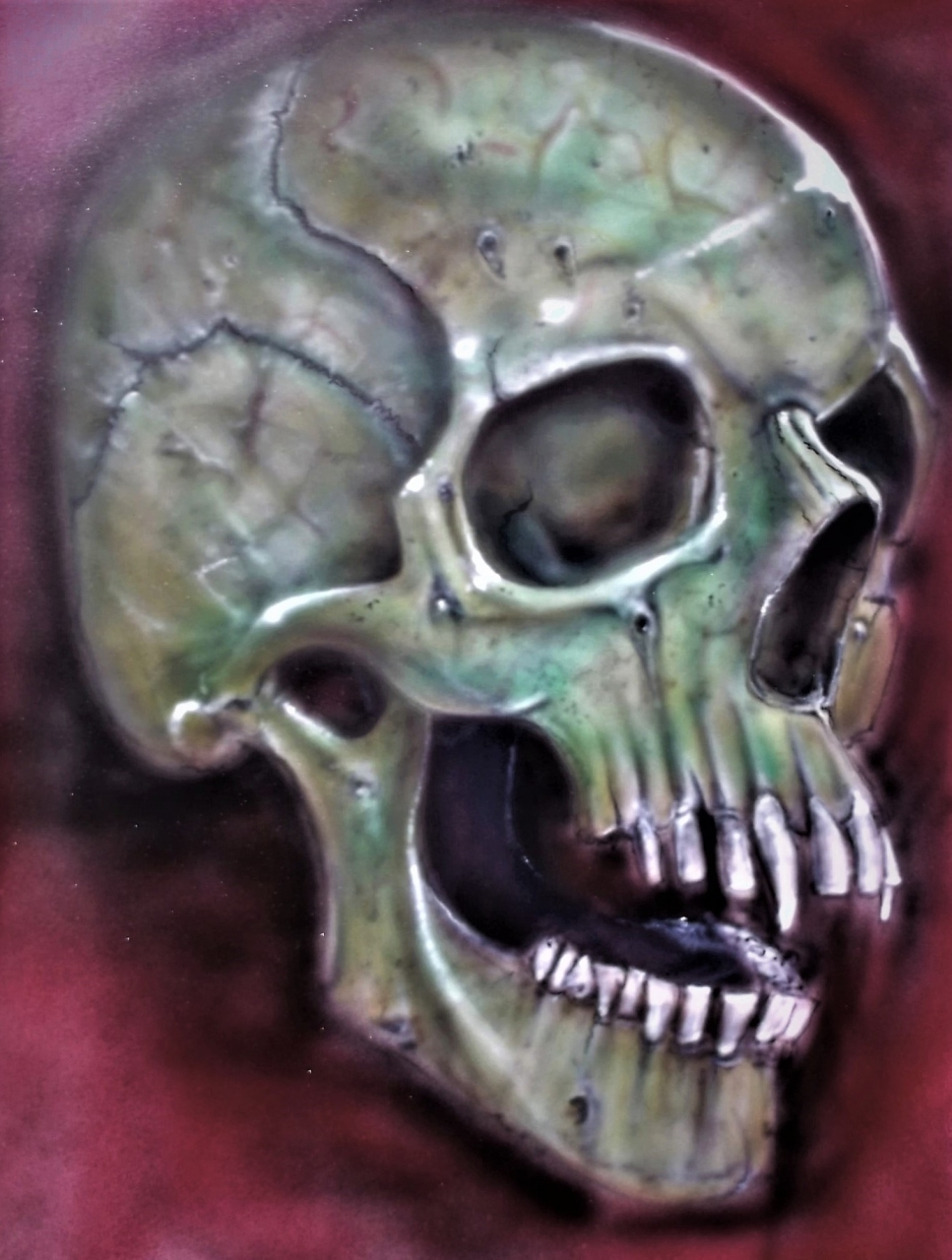 Another Vamp Skull 500 x 700 mm card