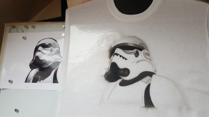 Stormtrooper T shirt try