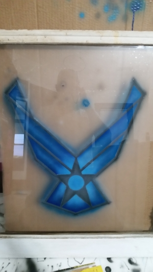 AirForce Logo on window pane