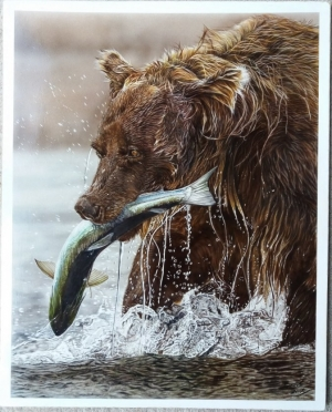 "Brown Bear, 20"" x 16"""