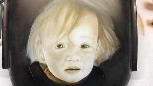 Portrait of a Child in Sepia