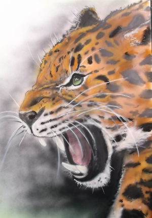 700 x 500 mm card airbrush / pastel