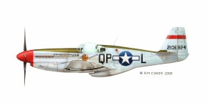 "North American Aviation P-51B ""Mustang"" fighter plane. WWII"