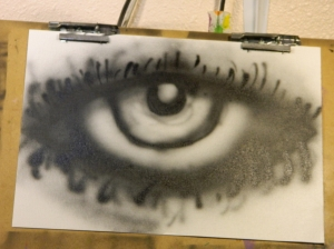 My first project with the eye.... it looks like it hasnt slept in about a month XD